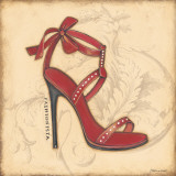 Fashionista Red Heel Print by Stephanie Marrott
