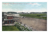 Saratoga Springs, New York - Horse Race Finish Scene Art