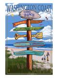 Long Beach, Washington - Sign Destinations Posters by  Lantern Press