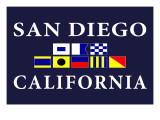 San Diego, California - Nautical Flags Prints by  Lantern Press