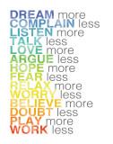 Plus et moins, en anglais Art par Louise Carey