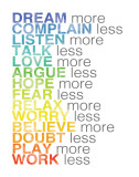 More and Less Posters by Louise Carey