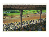 Saratoga Springs, New York - A Close Finish Scene Prints