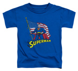 Toddler: Superman - American Flag Shirts