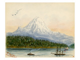 Mt. Rainier From Seattle Giclee Print by Alfred Downing