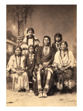 Chief Joseph and Family Members, Circa 1877 Giclee Print by F.M. Sargent