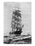 M.P. Grace (Sailing Ship) Giclee Print by Asahel Curtis