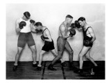 YMCA Boxing Class, Circa 1930 Reproduction procédé giclée par Chapin Bowen