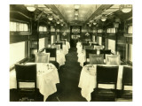 Dining Car, 1925 Giclee Print by Asahel Curtis