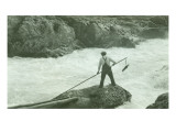 Spearing Fish, Circa 1940 Giclee Print