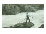 Spearing Fish, Circa 1940 Giclee Print