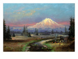 Mt. Rainier and Clover Creek Giclee Print by Meyer Straus