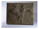 Relief Fragment Depicts A Figure with A Horse, A Copy of A Frieze In the Classical Greek Style Premium Giclee Print by James Wehn