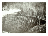 Great Northern Railroad Bridge, Circa 1895 Giclee Print
