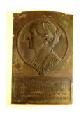 Rectangular Plaque Made of Plaster and Painted to Look Like Patinated Bronze Giclee Print by James Wehn