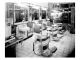 Inside a Barber Shop, 1927 Giclee Print by Chapin Bowen