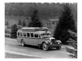 Motor Bus at Point Defiance Park, 1927 Giclee Print by Chapin Bowen