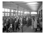 Passengers Waiting at Station, 1925 Giclee Print by Asahel Curtis