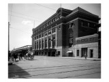 Spokane: O.W. and Milwaukee Station, 1915 Giclee Print by Asahel Curtis