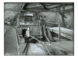 Coal Car with Operator, Franklin Mine Giclee Print by Asahel Curtis
