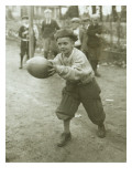 Boy with Football, Early 1900s Premium Giclee Print by Marvin Boland