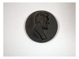 Study of Commemorative Medallion Made of Plaster Depicts Abraham Lincoln Giclee Print by James Wehn