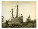 Lightship Beached at McKenzie Head, 1899-1901 Giclee Print by J.F. Ford