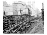 Tracks at 3rd and Madison, Seattle, 1907 Giclee Print by Asahel Curtis