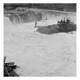 Celilo Falls on the Columbia River, 1954 Giclee Print by Virna Haffer