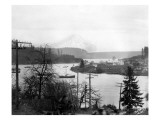 Gig Harbor & Mt. Tacoma, Dec. 26, 1926 Giclee Print by Marvin Boland
