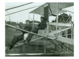 Harvey Crawford in Biplane, 1912 Premium Giclee Print by Marvin Boland