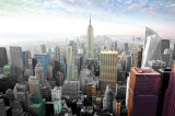 New York, stadslandskap i färger Posters