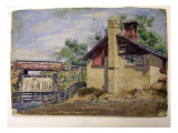 Barn and Spillway Giclee Print by Julien Feist