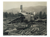 Logging Mill, Circa 1929 Giclee Print by Asahel Curtis