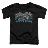 Toddler: Justic League America - League Lineup Shirt