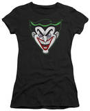 Juniors: Batman - Animated Joker Head Shirt