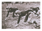 Football Players, Early 1900S Giclee Print by Marvin Boland
