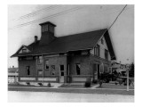 Exterior of Fire Station, Tacoma, WA, 1932 Giclee Print by Chapin Bowen