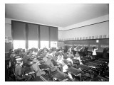 University Class at Board with Music Studies, 1905 Giclee Print by Asahel Curtis