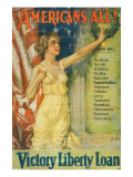 """Americans All!: Victory Liberty Loan"", 1919 Giclee Print by Howard Chandler Christy"
