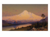Mt. Hood at Sunset Premium Giclee Print by James Everett Stuart