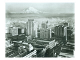 Tacoma Downtown Business District, 1930 Giclee Print by Chapin Bowen