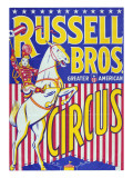 """Russell Bros--Greater American Circus"", Circa 1940 Premium Giclee Print"