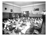 Beacon Hill School Intermediate Painting Class, Circa 1905 Giclee Print by Asahel Curtis