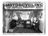 Indian Cycle Co. Booth at Puyallup Fair, 1927 Giclee Print by Chapin Bowen