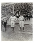 Babe Ruth and Bob Museul, October 18, 1924 Reproduction procédé giclée par Marvin Boland