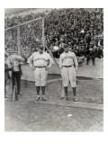 Babe Ruth and Bob Museul, October 18, 1924 Giclee-trykk av Marvin Boland