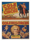 """Cole Bros. Circus: World'sGreatest and Best Loved Amusement Institution"", Circa 1938 Lámina giclée"