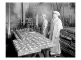 Two Cannery Workers at Apex Fish Co., Anacortes, WA, Circa 1913 Giclee Print by Asahel Curtis