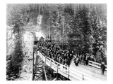 Railroad Overpass Tressel, 1921 Giclee Print by Asahel Curtis